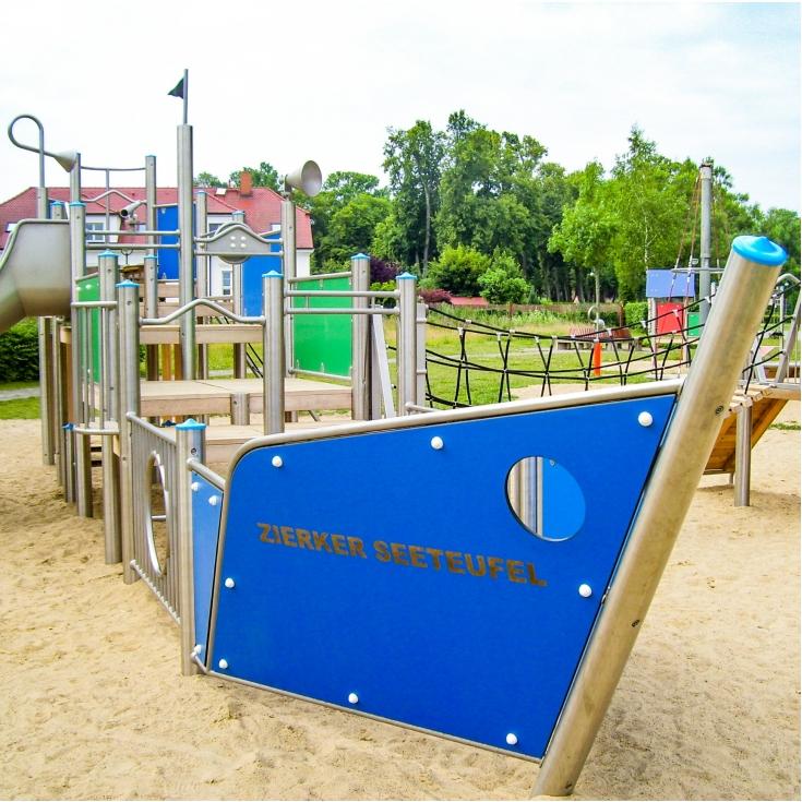 Bild 1: Zierker Seeteufel - Spielplatz am Stadthafen