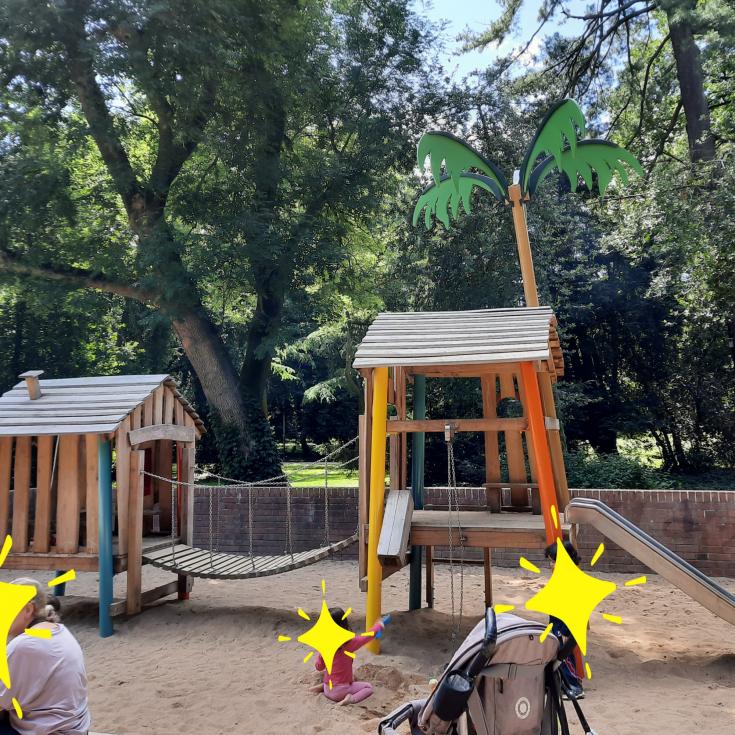 Bild 2: Wasserspielplatz im Volksgarten